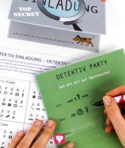 Detektiv Einladung - Geheimcode