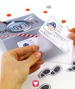 Detektiv Einladung - Ausweis für die Gäste zum Ausschneiden