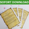 Piraten Schatzsuche Vorlage als Sofort-Download