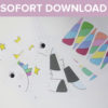 Sofort-Download Spielvorlage Pinn das Einhorn groß