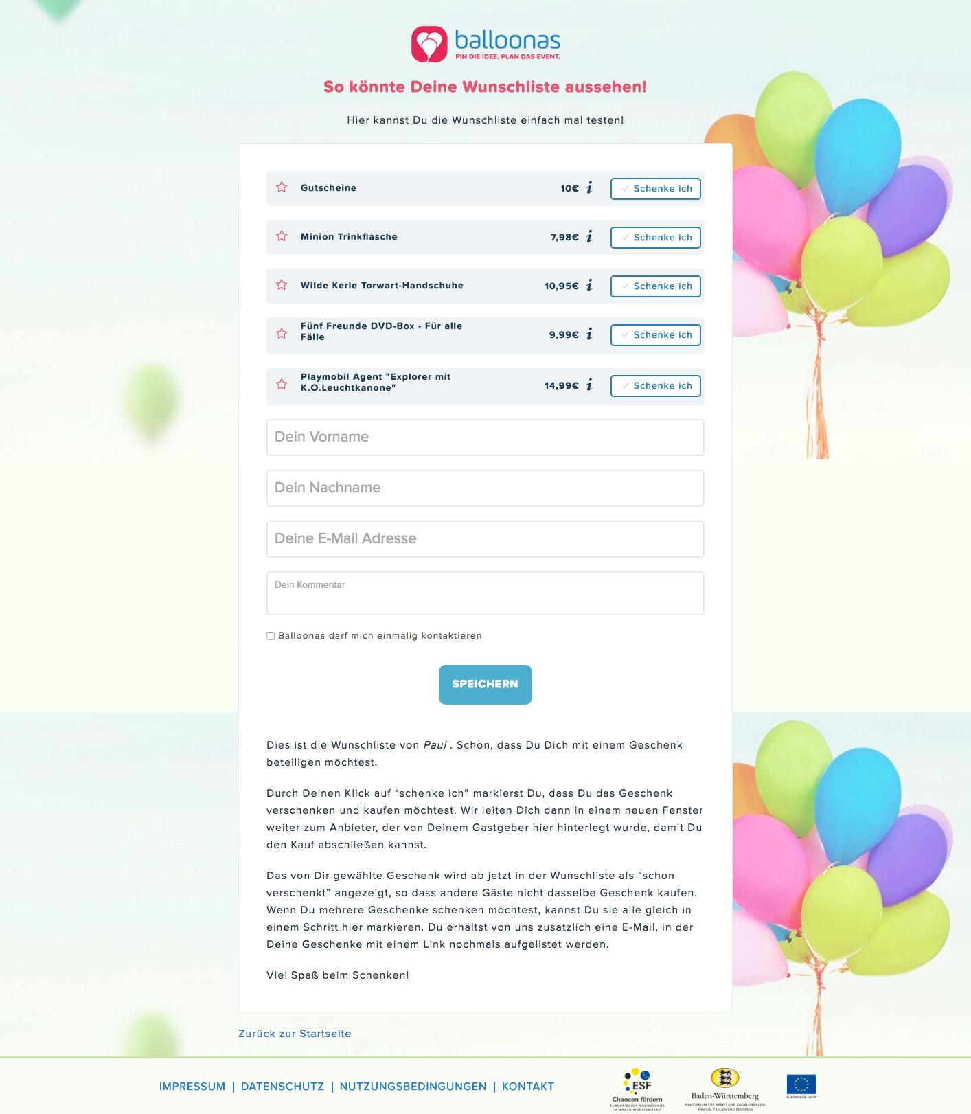 Geschenkwünsche Kommunizieren Oder Nicht Balloonasblog