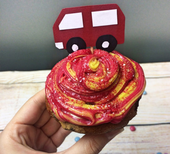 Feuerwehrkuchen Feuer Cupcakes Kindergeburtstag