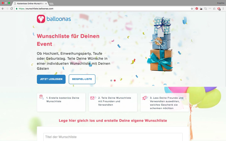 balloonas Online Wunschliste