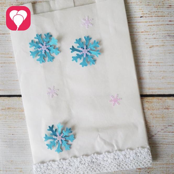 Eiskristalle Brotzeittüte Geschenkverpackung