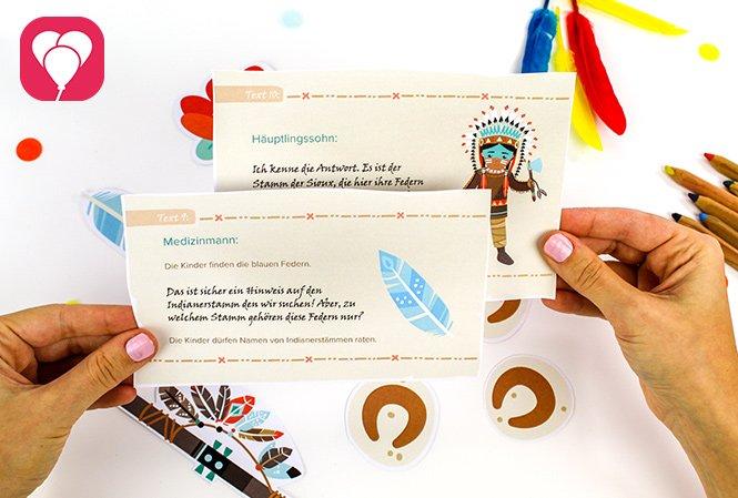 Indianer Schatzsuche - Texte