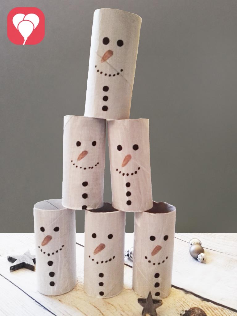 Schneemann Zielwurf winterliche Geburtstagsspiele