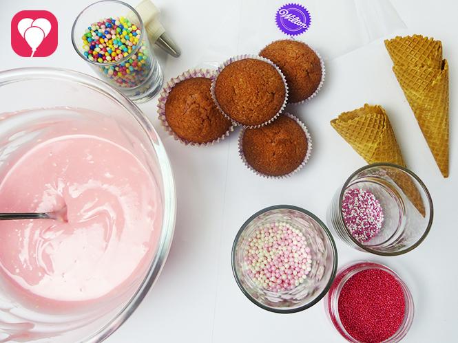 Zutaten Einhorn Cupcakes
