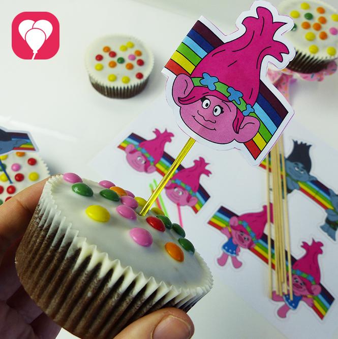 Film Trolls Muffins dekorieren