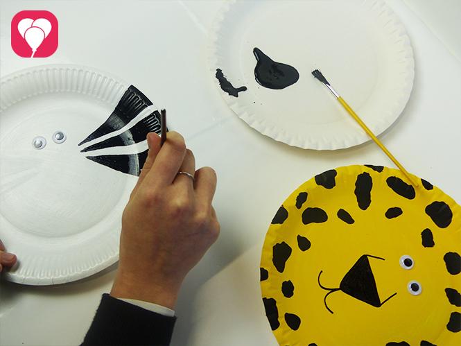 Masken basteln Tiere bemalen