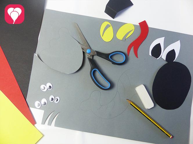 Tier Masken basteln Vorbereitungen