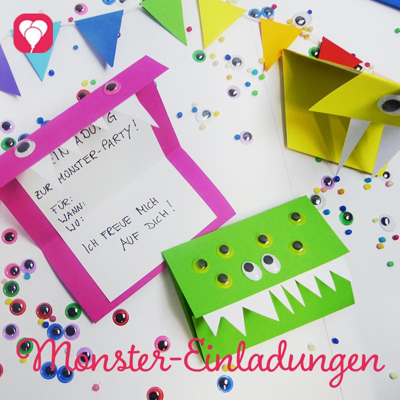 Monster Einladungen