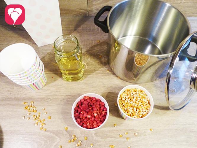 buntes Popcorn selber machen Zutaten