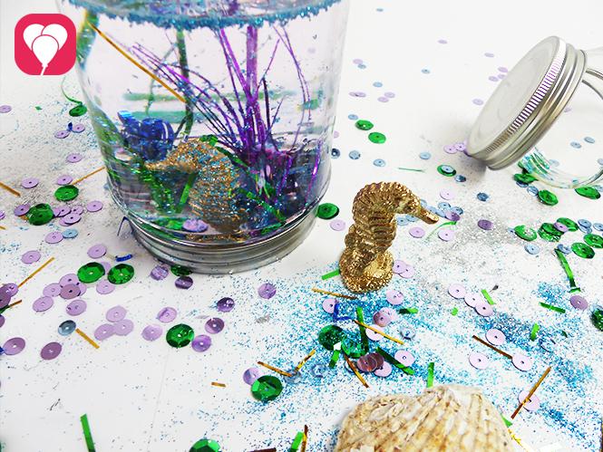 DIY Schneekugeln auf dem Meerjungfrauen Geburtstag