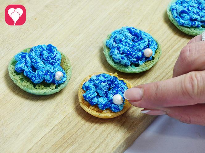 6 Perle in Muschel Macarons