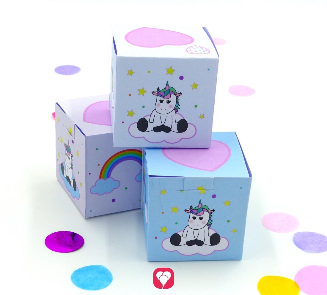 Süße Einhorn Geschenkbox