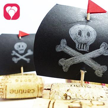 Titelbild DIY Piratenschiff basteln