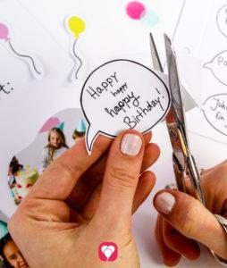 balloonas Geburtstagsbuch - Sticker ausschneiden und dekorieren