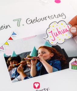 balloonas Geburtstagsbuch - Bilder einkleben und dekorieren