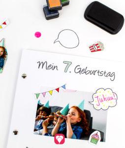 balloonas Geburtstagsbuch - Titelseite dekorieren