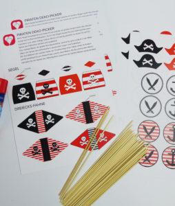 Piraten Deko Picker - Zusatzmaterial