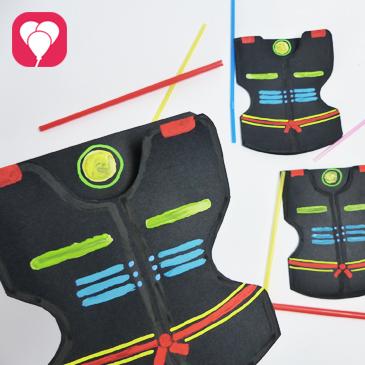 Lasertag Kindergeburtstag - Leuchtende DIY Neon Einladung