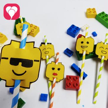 Lego Party Diy Lego Strohhalme Basteln Balloonasblog