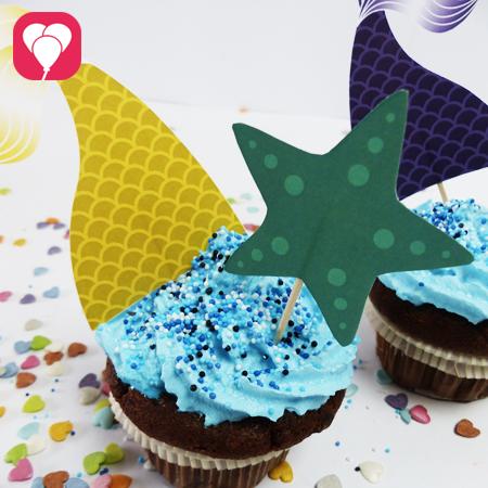 Meerjungfrau Cupcakes