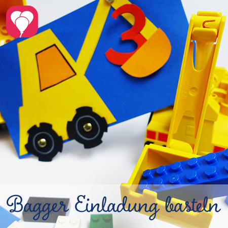 Preview DIY Bagger Einladung