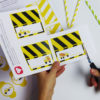 Bauarbeiter Tischkarten - Schritt 1