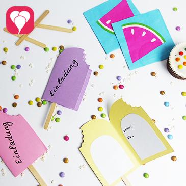 DIY Eis Einladung basteln