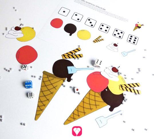 Eiscreme Würfel Spiel - balloonas