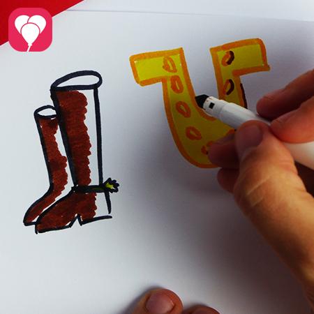 Pferde Geburtstag - Einladungskarte mit Reitersymbolen dekorieren