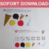 Eiscreme Würfel Spiel als Sofort-Download