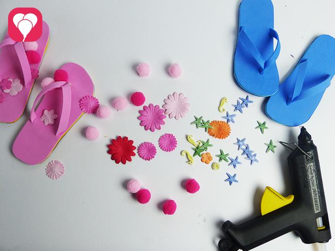 DIY Flip Flops dekorieren - Material