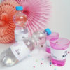 Einhorn Flaschenetiketten und Becherschilder als Sofort-Download