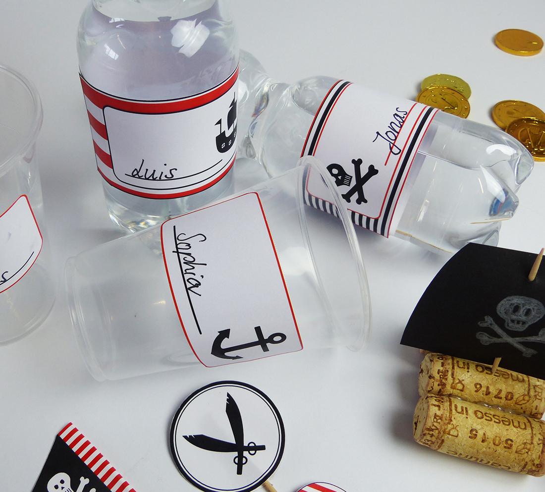 Praktisch & passend zum Motto: Becherschilder & Flaschenetiketten