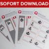 Piraten Flaschenetiketten und Becherschilder - Vorlage zum Sofort-Download