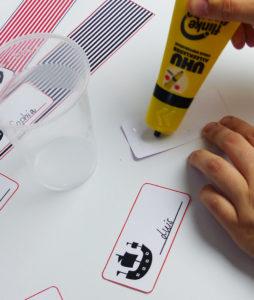 Piraten Flaschenetiketten und Becherschilder - Schritt 4