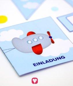 Flieger Einladung - balloonas