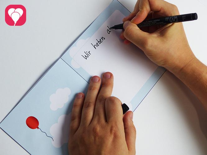 Motto Flugzeuge - Flieger Einladungskarte beschriften