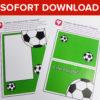 Fußball Einladung mit Torwand als Sofort-Download