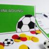 Fußball Einladung mit Torwand