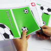 Fußball Einladung mit Torwand - Schritt 1