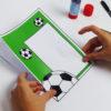 Fußball Einladung mit Torwand - Schritt 2