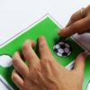 Fußball Einladung mit Torwand - Schritt 4