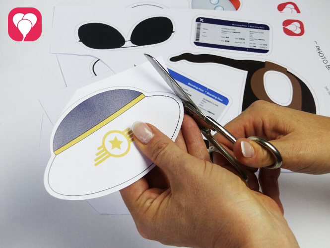 Flieger Fotoshooting Photo Booth Props ausschneiden