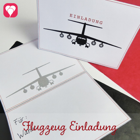 Flugzeug Einladung