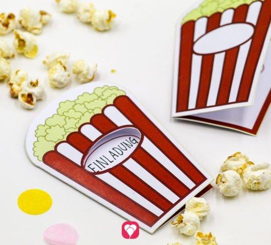 Kino Einladung beim Kindergeburtstag