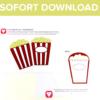 Kino Einladung als Sofort Download