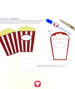 Kino Einladung Vorlage zum Bastleln